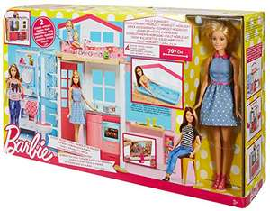 Barbie 2 story house and doll £23.99 Amazon