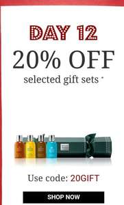 Molton Brown day 12 of 12 days of Christmas - 20% off selected gift set