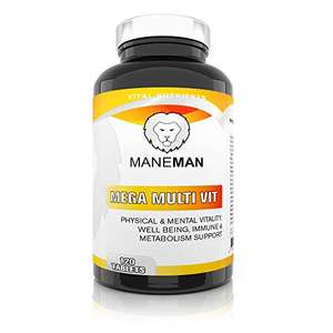 Multivitamin 120 tablets for free sold by Maneman FBA Amazon, prime only or £3.99 delivery, poss fre delivery with +£20 spend