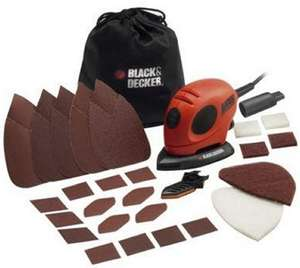 BLACK+DECKER KA161BC Mouse Detail Sander with Accessories £18.99 (Prime) / £23.74 (non Prime) at Amazon