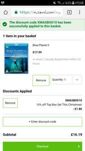 Zavvi 10% off lots boxsets-Blue Planet 2 on Blu Ray reduced to £17.99  then extra 10% off box sets using XMASBOX10