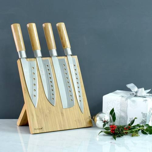 Pro Cook Japanese Knife Set with Block. £35.95 - procook.co.uk