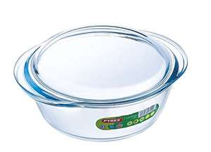 Pyrex 1.4 / 1.6 Litre Round Glass Casserole with lid £3 / £4 Add On Item/MinSpend £20 (or use Alexa) @Amazon