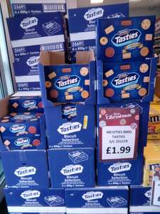 McVities Tasties Assorted Biscuits, 800g box just £1.99 B&M Stores...
