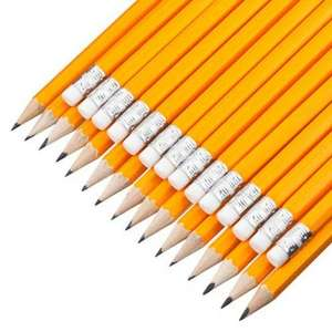30 pencils with eraser. (3.33p per pencil) £1 instore @ Poundland
