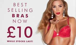 5 x best selling bras at Ann Summers for £40 delivered with code.