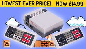 Retro Games Console With 500 Built-In Games! £14.99  / £19.98 delivered - GoGroopie