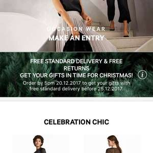 FREE DELIVERY until 20.12.17 @ H&M - no minimum spend!