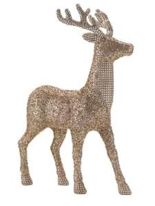 Linea Large Reindeer In Gold Champagne Glitter 50% off £14 + 3.95 Delivery @ House of Fraser