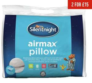 Silentnight Air Max Pillow 2 for £15 @ Argos