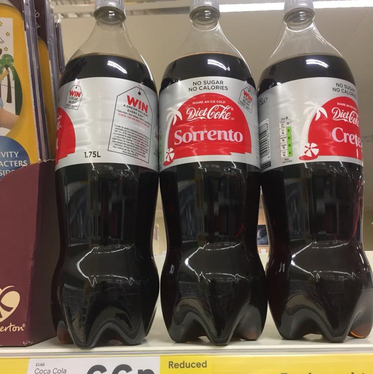 Diet Coke 1.75 Litre 66p Tesco Metro Carlisle