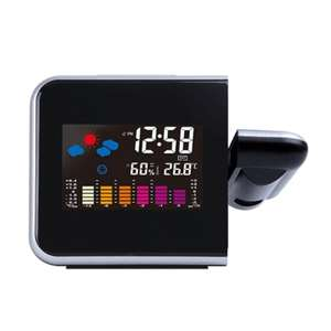 Loskii DC-003 Digital Wireless Hygrometer Therometer LED Projection Weather Station Alarm Clock £6.75 Delivered with code @ Banggood