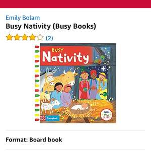 Busy books - Nativity push & pull book £1.87 Prime / £4.86 non Prime (free delivery with £10 worth of books) @ Amazon