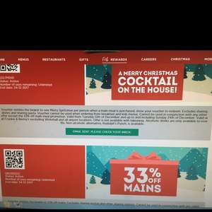 Frankie & Bennies 33% discount on main meal! And kids eat free until the 29th!