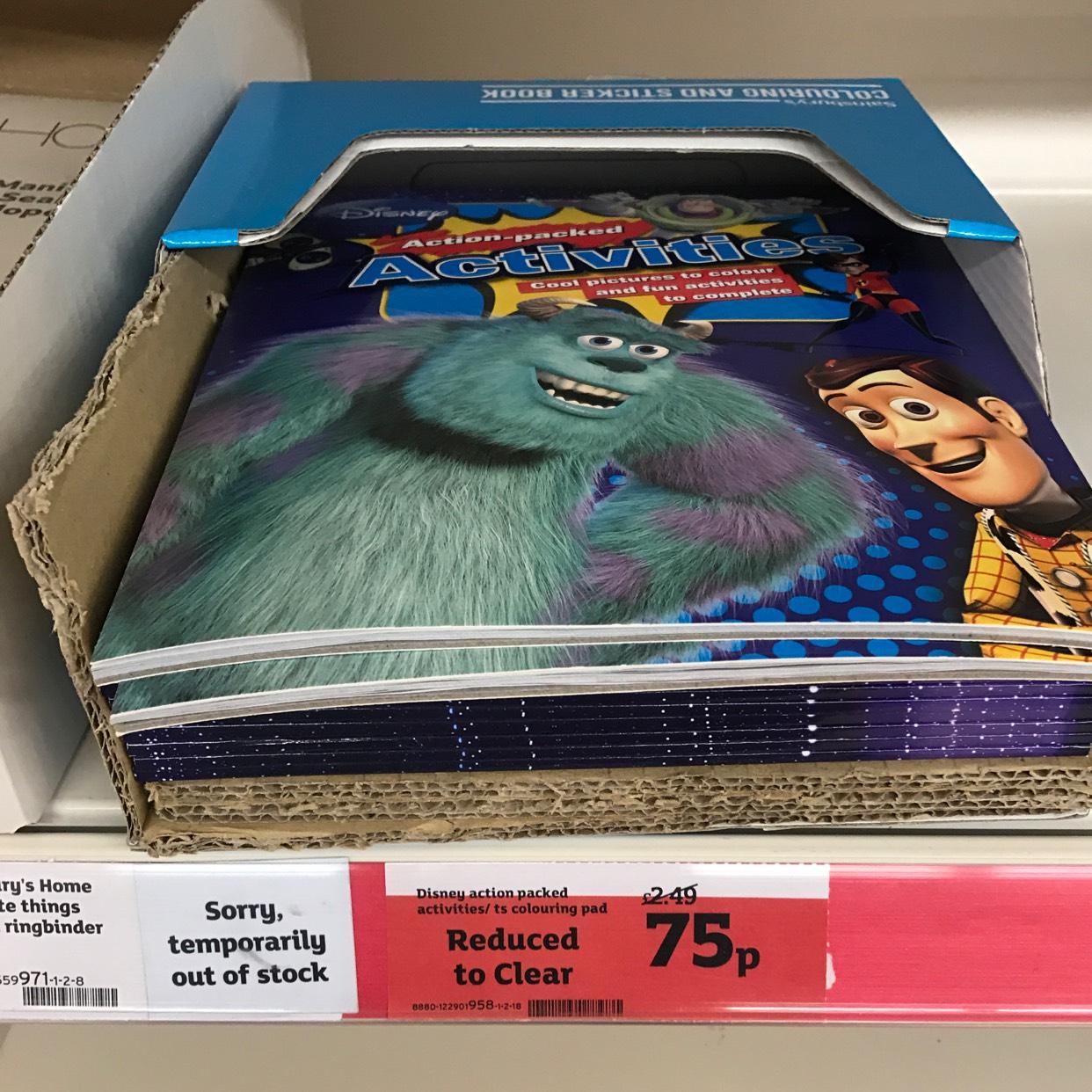 Disney activity books 75p @ Sainsbury's - Haringey