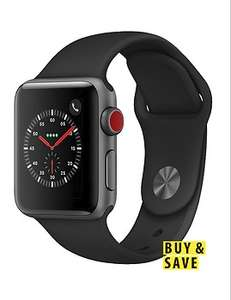 Apple Watch series 3 (GPS +Cellular) 38mm £319 with BNPL code @ Very