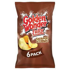 Golden Wonder Sausage & Tomato Crisps 6 pack £1 or 2x6 pack for £1.60 at Farmfoods