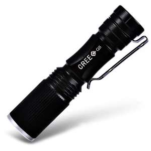 Cree XPE Q5 600Lm Zoomable LED Flashlight 1 x AA / 14500 75p Delivered with code @ Gearbest