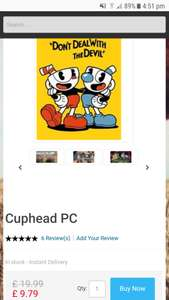 Cuphead steam £9.79 @ cdkeys