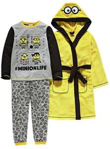 Minions Yellow Nightwear Set - 5-6 Years £13.48 @ Argos