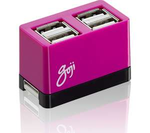Goji 4-port USB hubs (various colors) 97p w/2yr guarantee collect in store @ Currys PC World