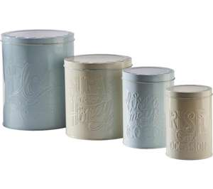 Mason Cash 4-pack storage tins £8.97 - free collection or std delivery @ Currys