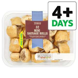 Tesco 32 Mini Sausage (28% Pork) Rolls (480g) was £3.00 now 3 for 2 Cheapest Product Free @ Tesco