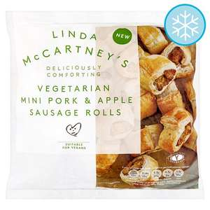 Linda McCartney Vegetarian Mini Sausages Rolls 340G Linda Mccartney Vegetarian Mini Sausages Rolls (340g) was £2.00 for One Packet  now any 3 Packs for £5.00 @ Tesco