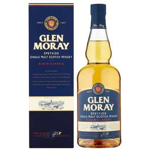 Glen Moray Classic Single Malt Whisky 70cl - £17.00 in-store and online at Morrisons