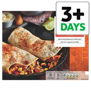 Tesco Tex Mex Spicy Beef Burrito 430GTesco Tex Mex Spicy Beef Burrito (430g) Save £1.50 was £3.50 now £2.00 @ Tesco