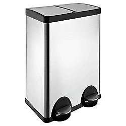 60L Stainless Steel Recycling Pedal Bin with Two Sections- £6.50 (INSTORE ) @ Tesco