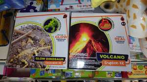 Volcano Eruption Kit Or Glow Dinosaur Excavation Kit In Store, 8+ Years @ Poundland, £1