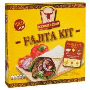 Fajita kit (tortillas + spice + salsa) only £1 @ Poundland