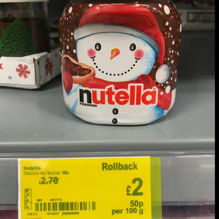 Nutella 400gr £2 @ Asda