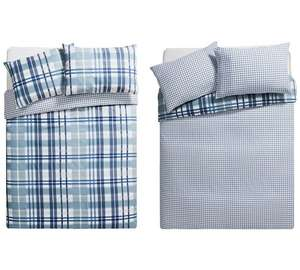 Blue Check Twin Bedding Pack (2 sets) Double Bed Size £11.49 @ Argos