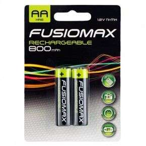 Rechargeable Aa batteries 2 pack Fusionmax £1 @ Poundland
