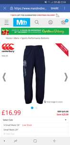 Canterbury Uglies Mens Tracksuit Bottoms - £16.99 @ M&M Direct