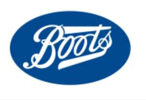 Get 400 points (£4) when you download the boots app and spend £20