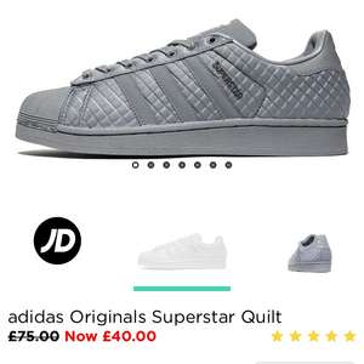 Adidas superstar £40 instore @ JDSports