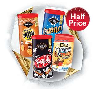 Jacobs twigglets, KP cheese football,s Jacobs Treeselets, Jacobs mini cheddars  @ Iceland      £1 ONLY         Instore Thursday  14th December.