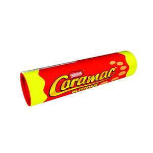 Nestlé Caramac buttons giant tube ... 75p at Wilko ... Cheap as chocolate chips!