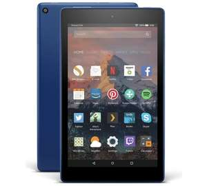 Amazon Fire 8 HD Alexa 8 Inch 16GB Tablet - Marine Blue/Red/Black £49.99 @ Argos