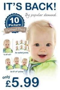 10 Picture Portrait Pack for £5.99 at Max Spielmann