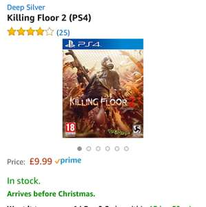 Killing Floor 2 PS4 £9.99 - Amazon prime exclusive