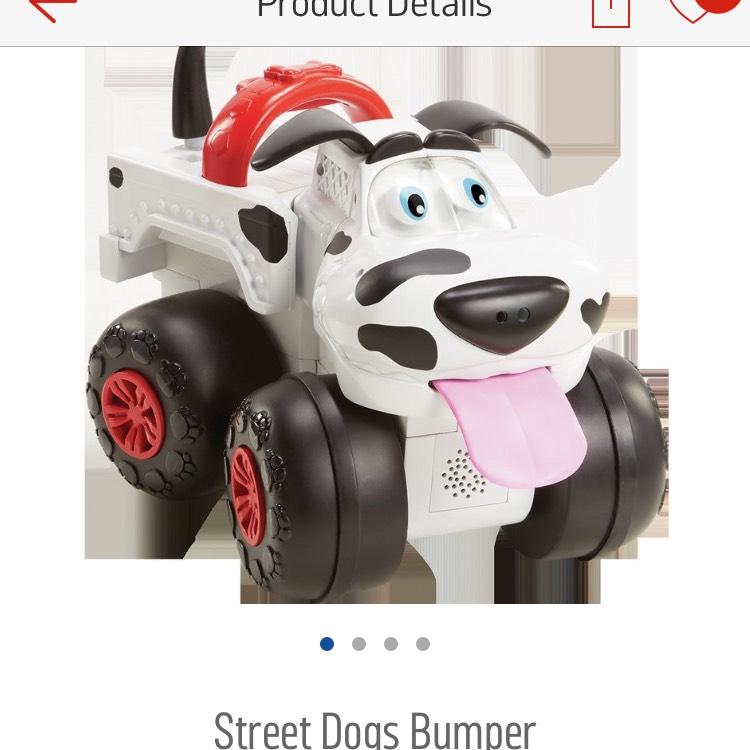 Street dog bumper £12.99 argos rrp £34.99