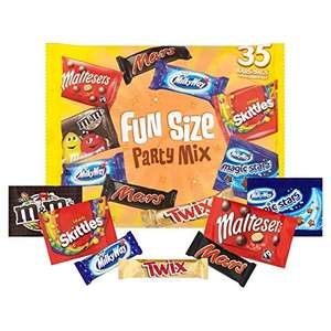 600g bag mars funsize (approx 35 portions per pack) £2 at poundland