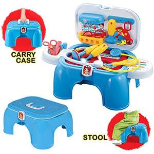 deAO Doctors Medical Tools First Aid Kit Playset Handy Carrycase and Stool with Accessories Included £9.74 (Prime) / £14.49 (non Prime)  lightning deal Sold by deAO and Fulfilled by Amazon.