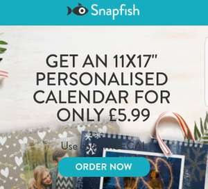 Personalised A3 calendar - SNAPFISH only £7.98 including delivery - MSE offer