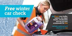FREE winter car check - Including Free screenwash top up @ Halfords