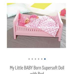 My little baby born supersoft doll with bed £28.99 argos